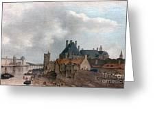 Paris: Pont Neuf, 1637 Greeting Card