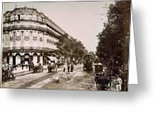 Paris: Street Scene, 1890 Greeting Card