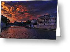 Paris Sundown Greeting Card