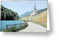 Parish Church St Nicholas Valdurna Italy Greeting Card