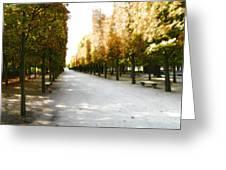 Parisian Park Walkway Greeting Card