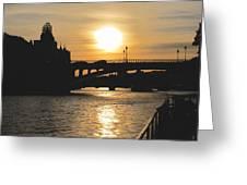 Parisian Sunset Greeting Card