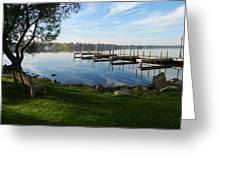 Park And Dock Greeting Card