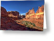 Park Avenue 1 Arches National Park Greeting Card