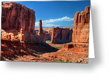 Park Avenue 2 Arches National Park Greeting Card