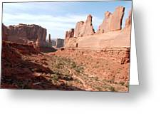 Park Avenue At Arches National Park In Utah Greeting Card