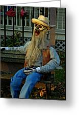 Park Bench Ghoul Greeting Card