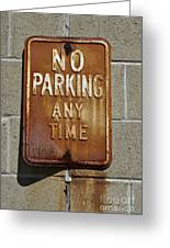Park Here Greeting Card