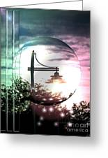 Park Light Greeting Card by Laurence Oliver