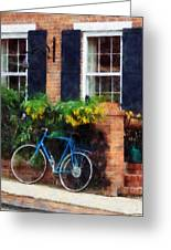 Parked Bicycle Greeting Card