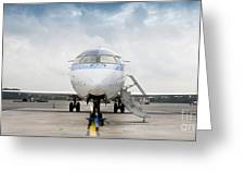 Parked Jet Airplane Greeting Card