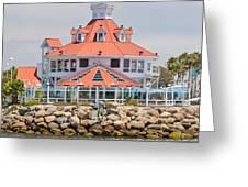 Parker's Lighthouse Shoreline Village Greeting Card