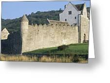 Parkes Castle,co Sligo,irelandpanoramic Greeting Card