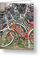 Parking Bicycles In Mako Greeting Card