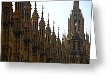 Parliament's Spires Greeting Card