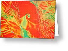 Parrot Fire Greeting Card