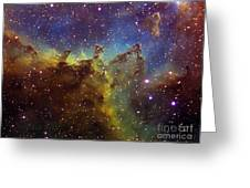Part Of The Ic1805 Heart Nebula Greeting Card
