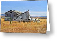 Partial Fallen Barn  Greeting Card
