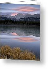 Partially Frozen Spillway Lake At Greeting Card