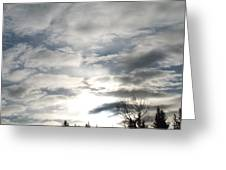 Parting Clouds Greeting Card