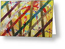 Party - Stripes 2 Greeting Card by Mordecai Colodner