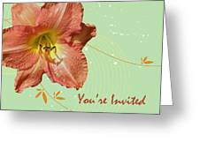 Party Invitation - Orange Day Lily Greeting Card