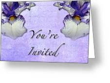 Party Invitation - General - Wild Iris - Blue Flag Greeting Card