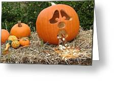 Party Pumpkin Greeting Card