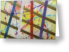 Party-stripes-1 Greeting Card by Mordecai Colodner