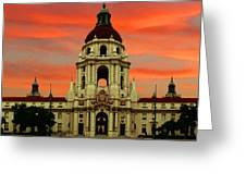 Pasadena Sunrise Greeting Card