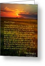 Pascal's Wager Greeting Card