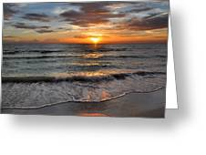 Pass-a-grille Beach Sunset Greeting Card