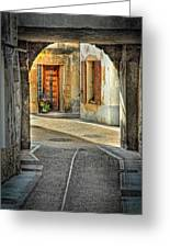 Passageway And Arch In Provence Greeting Card