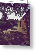 Passageway At Hampton Court Palace Greeting Card
