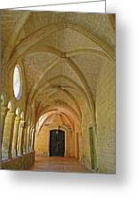 Passageway In A Monastery  Greeting Card