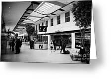 passenger concourse of Glasgow Buchanan street bus station Scotland UK Greeting Card