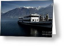 Passenger Ship On The Lake Greeting Card