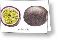 Passiflora Edulis Fruit Greeting Card