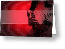 Passion Greeting Card by Naxart Studio