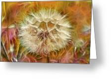Pastel Dandelion Flare Greeting Card