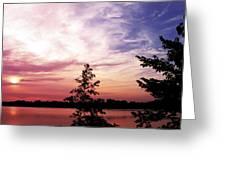 Pastel Pink Sunset Greeting Card