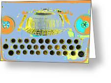Pastel Pop Typewriter Art Greeting Card by ArtyZen Studios
