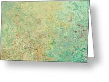 Pastle Green Stone Greeting Card