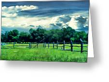 Pastoral Greenery Greeting Card by Lourry Legarde