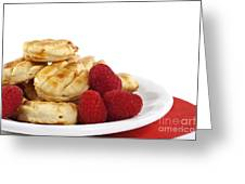 Pastries And Raspberries Greeting Card