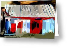 Patchwork Barn Greeting Card