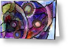 Patchwork Whimsey Greeting Card