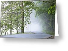 Path Into The Fog Greeting Card