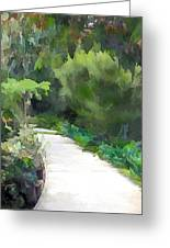 Path Into The Green Greeting Card