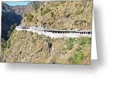 Path Leading To The Shrine Of Vaishno Devi Greeting Card